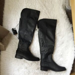 NWT Forever 21 Faux Leather Over The Knee Boots